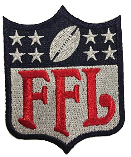 Fantasy Football FFL Patch Regular Logo Blue & Red (Perfect For Jersey, Award, Trophy or Draft)