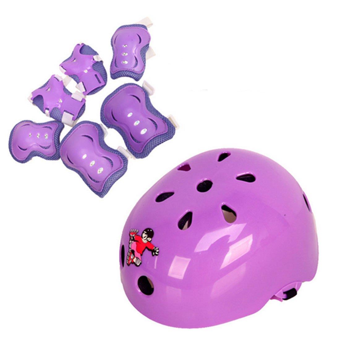 PeleusTech®7Pcs子供用サイクリングスケートボードスケートヘルメット肘パッドリストガード付き膝パッド - (6-14歳の子供たち)   B07CYSKFBT