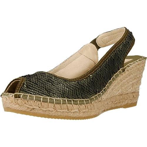 VIDORRETA Alpargatas Para Mujer, Color Verde, Marca, Modelo Alpargatas Para Mujer 10500ORCL Verde: Amazon.es: Zapatos y complementos