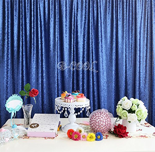 B-COOL 20ftX10ft Navy sequin Tablecloth Rectangle Dinner/Party/Wedding tables