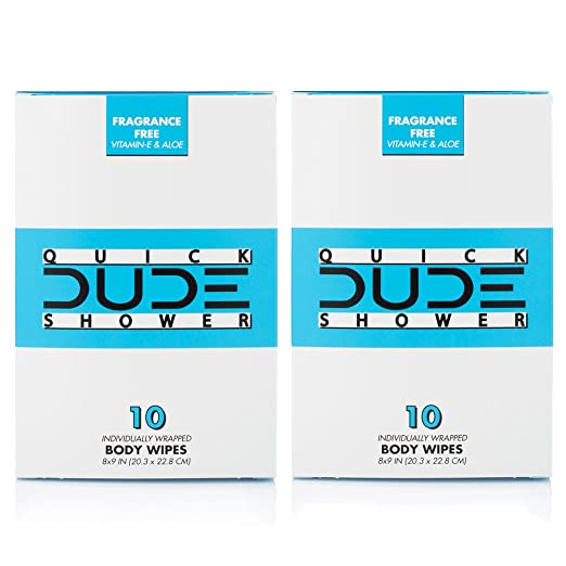 Review DUDE Shower Body Wipes
