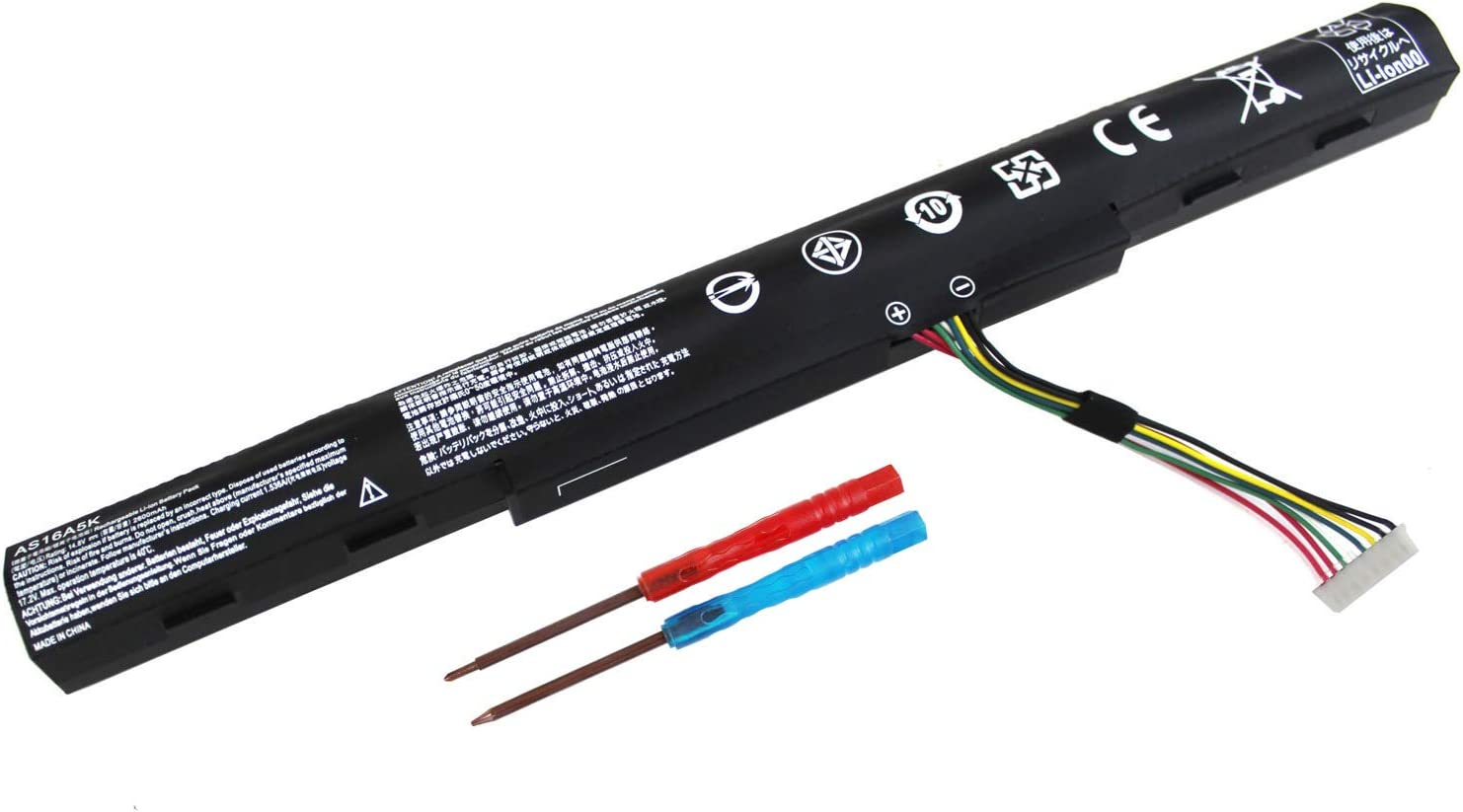 NEW 58Wh/2600mAh AS16A5K Laptop Battery for Acer Aspire E15 E5-523 E5-523G E5-553 E5-553G E5-576 E5-576G F5-573 F5-573G F5-573T Series AS16A7K AS16A8K 4ICR19/66 KT.00405.001