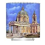 Pixels Shower Curtain (74'' x 71'') ''la basilica di Superga''