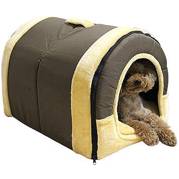 XCXpj - Cama de iglú Antideslizante para Mascotas y sofá, para Perros y Gatos, 3 tamaños, Recomendable para Perros pequeños/Cachorros, Color marrón: ...