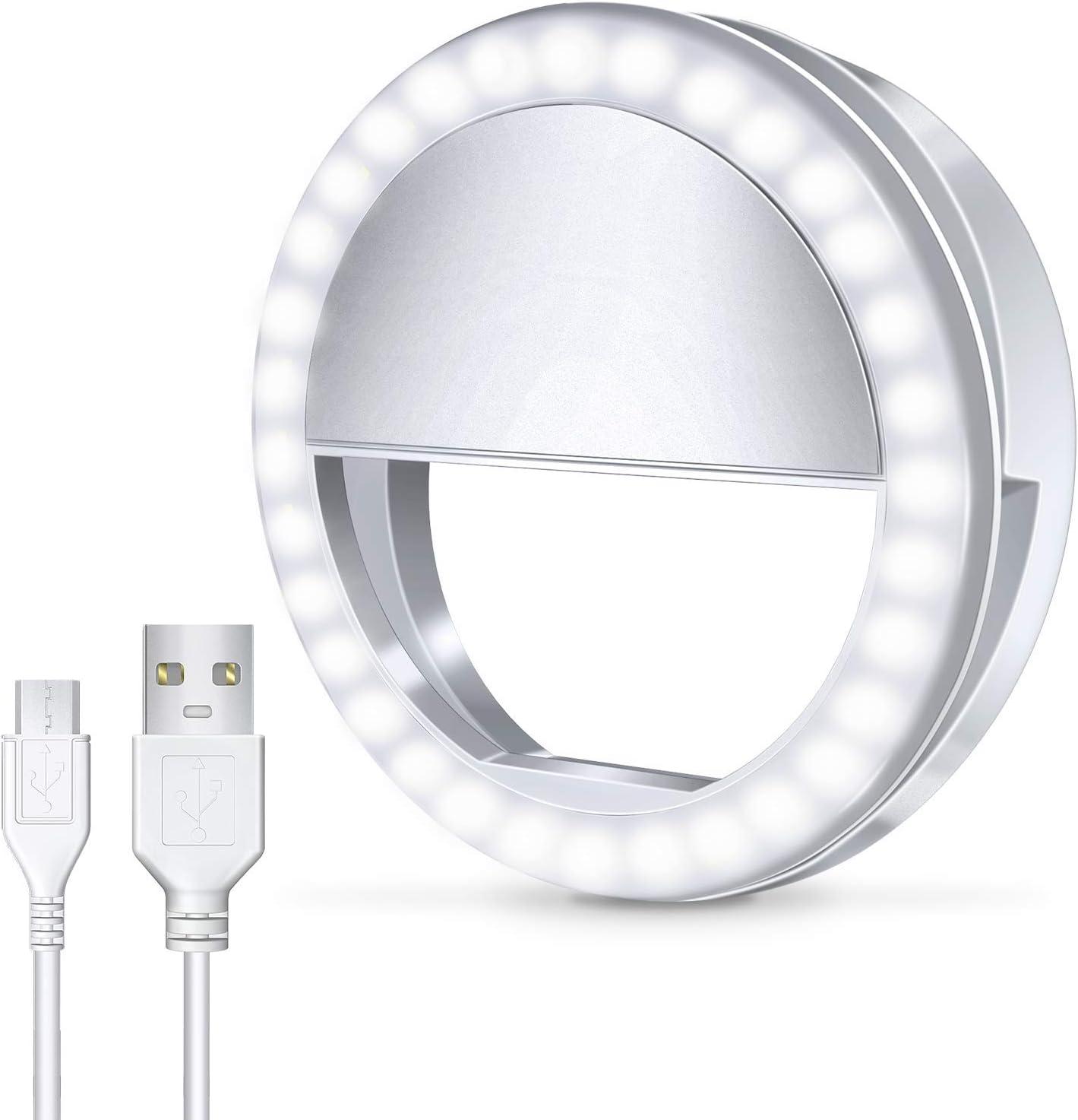 Selfie Clips On 36 LED Light Ring