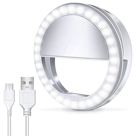 b10694878156 Meifigno Selfie Phone Camera Ring Light with  Rechargeable  36 LED Light