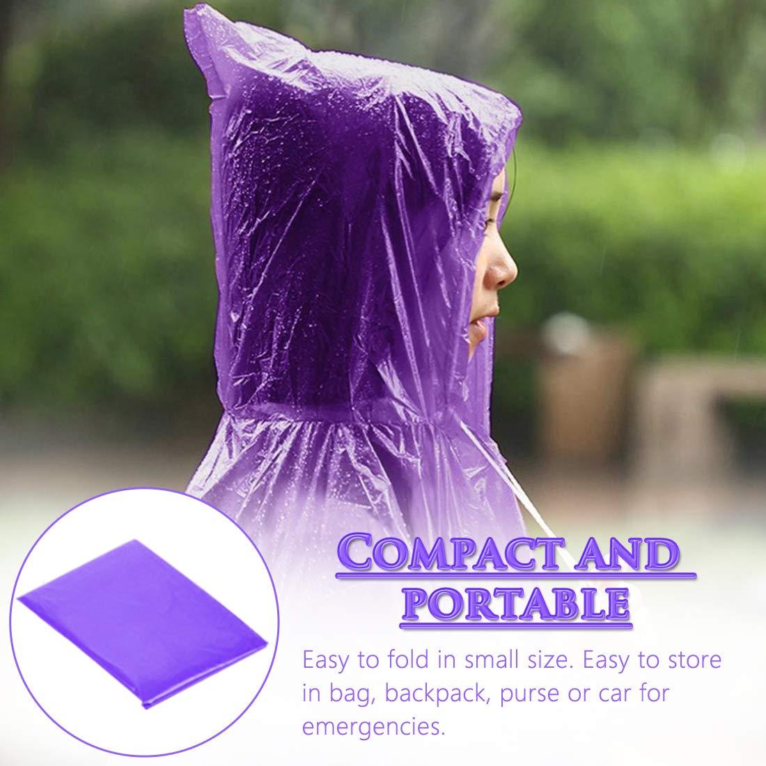 BESTZY Poncho Impermeabile,5Pcs Poncho da Pioggia Portable Adulto Raincoat,Emergency Poncho Antipioggia Monouso per Escursionismo,Camminata in Montagna