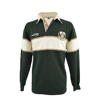 Camisa Para Hombre Del Trébol De Rugby De Manga Larga (Grande)
