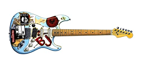 George Morgan Illustration Guitarra Blue de Billie-Joe Armstrong Tarjeta de Felicitación,