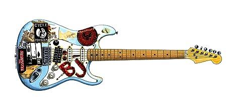 George Morgan Illustration Guitarra Blue de Billie-Joe Armstrong Tarjeta de Felicitación,