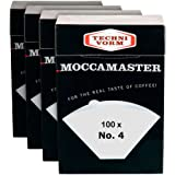 Technivorm Moccamaster 85022 Moccamaster #4 Paper Filters, White (4)