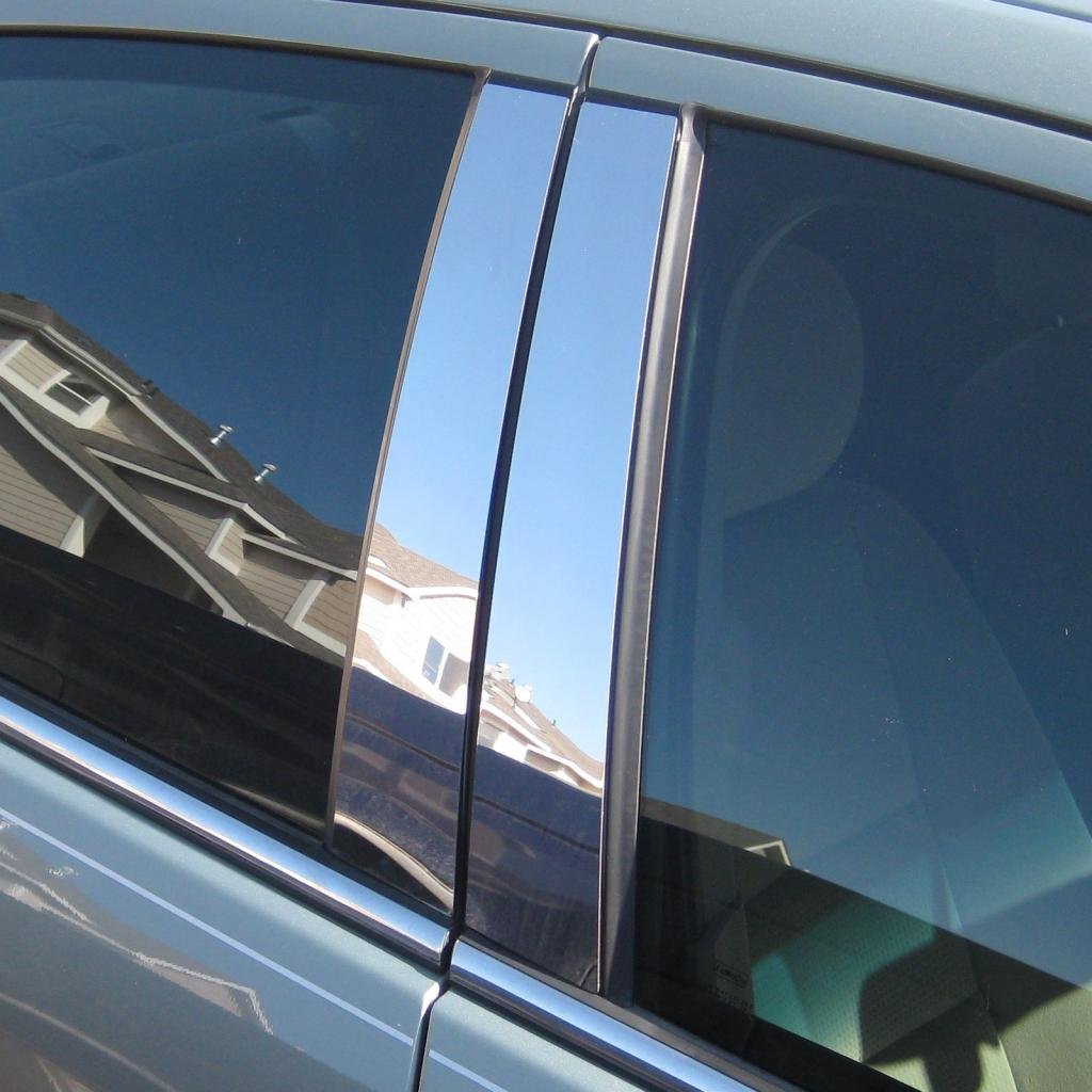 1998-2008 Ford Crown Victoria All Models PIL-093-CR Ferreus Industries Polished Stainless Pillar Post Trim Cover fits