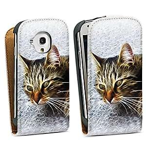 Diseño para Samsung Galaxy S3 Mini I8190 DesignTasche Downflip white - Good Morning Kitty Cat
