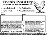 Cheap Poultry Freezer Labels 4″ x 3″ with Safe Handling Instructions and Exemption – P.L. 90-492 (250)