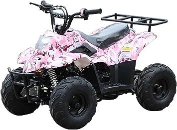 Amazon Com 110cc Atv Four Wheelers Fully Automatic 4 Stroke Engine 16 Tires Quads For Kids Carbon Fiber Automotive
