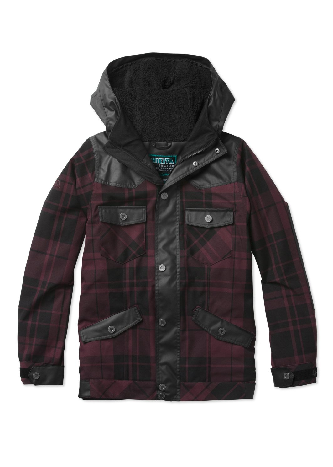 Nikita Mayon Jacket - Women's Wine Plaid/Jet Black, M