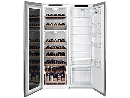 Side By Side Kühlschrank Weinkühler : Smeg einbau side by side wein kühl kombination edelstahl