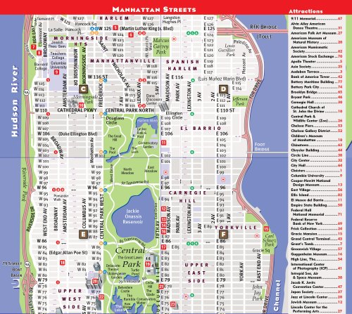 Nyc Subway Map Pda.Streetsmart Nyc Midtown Manhattan Map By Vandam Laminated Pocket Sized City Street Map With All Attractions Museums Broadway Theaters Hotels And