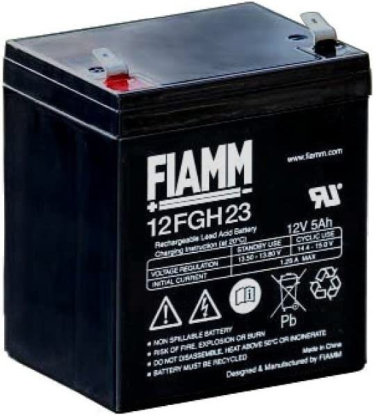 Batteria Fiamm al Piombo 12V 5Ah Faston 6,3mm