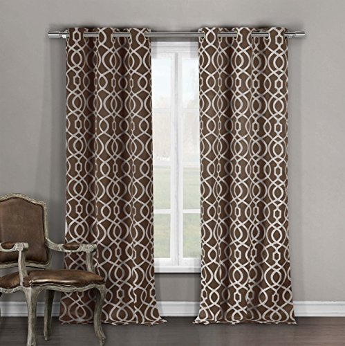 Duck Curtain Panel - DUCK RIVER TEXTILES - Harris Heavy Blackout Darkening Window Curtain Set of 2 Panels, 36 X 84 Inch, Chocolate Brown