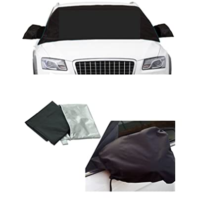 APSG ICE Snow Windshield Window Cover Magnetic Shade Frost Rain, Waterproof Car Premium w/Mirror Covers: Automotive