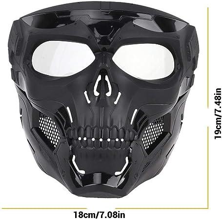 Ourine 1 masque squelette pour visage Airsoft Full Face Casque Masque de protection pour Halloween