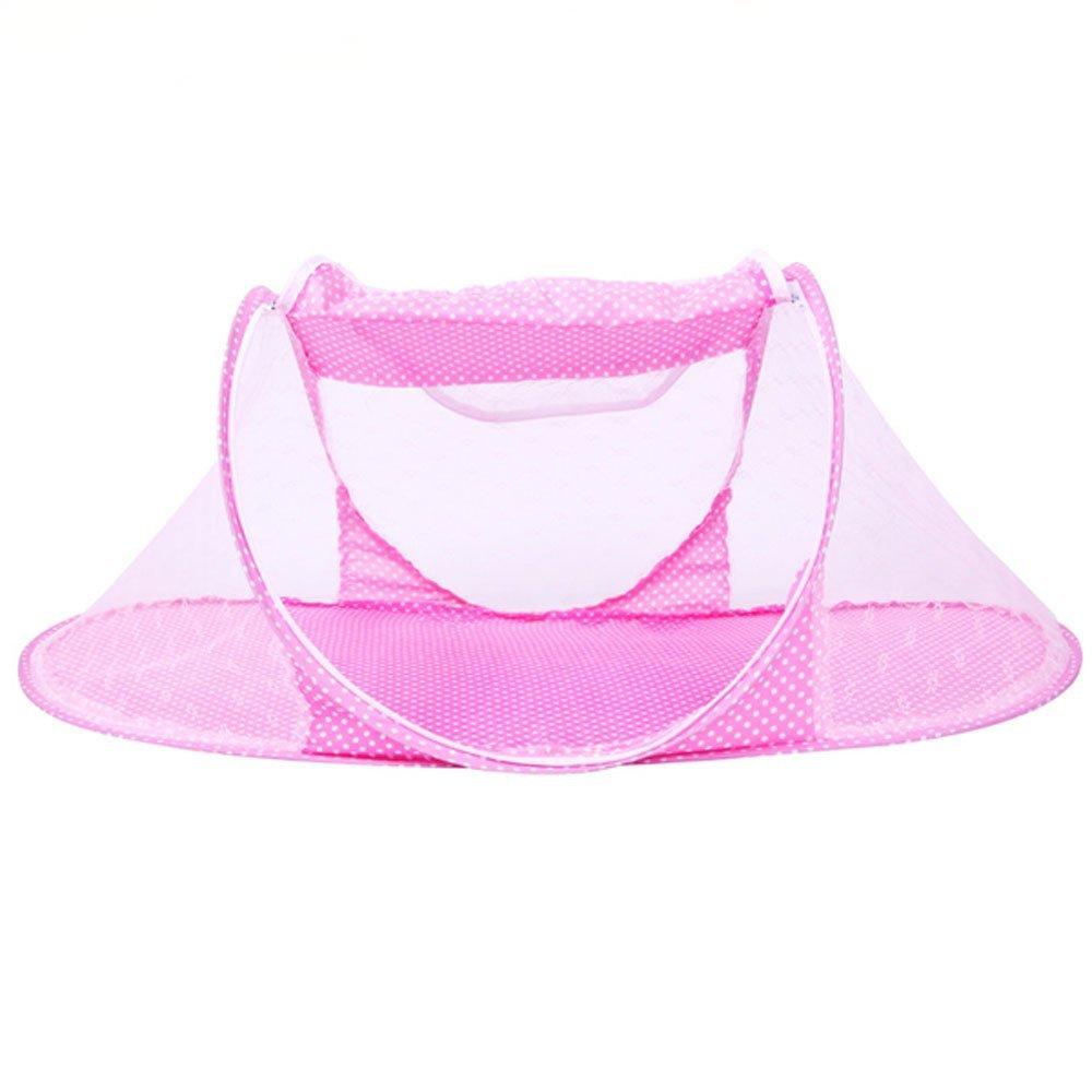 CdyBox Portable Travel Baby Tent Pop Up Playpen Instant Mosquito Net (Pink)