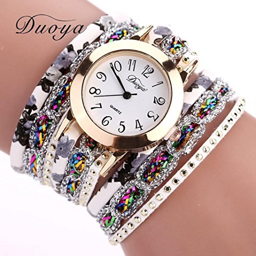 9fef81e4e27bf Binmer(TM) Duoya Brand Women Flower Popular Quartz Watch 2016 New Watches  Luxury Bracelet Women Dress Lady Gift Flower Gemstone Wristwatch (gold) -  Buy ...
