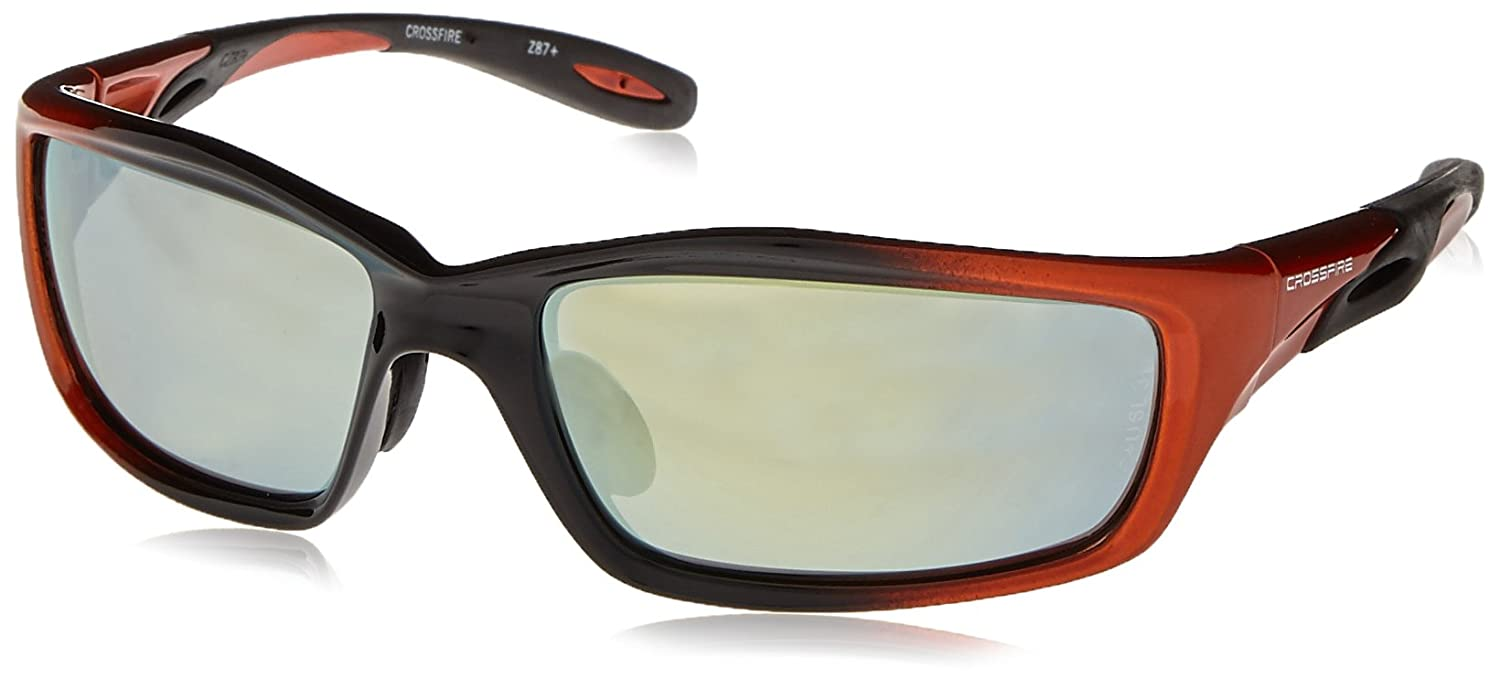 b60cf912f9a Crossfire 2812 Infinity Safety Glasses Gold Mirror Lens - Orange Black Frame  by Crossfire  Amazon.co.uk  DIY   Tools