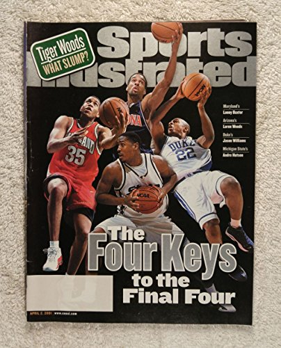 2001 Ncaa Basketball Final Four - Jason Williams (Duke), Loren Woods (Arizona), Andre Hutson (Michigan State), Lonny Baxter (Maryland) - The Four Keys to the Final Four - Sports Illustrated - April 2, 2001 - College Basketball - SI