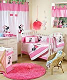 Disney Baby Minnie Mouse Flower Crib Bedding Set (4PC Bedding Set + extra 1 Bumper)