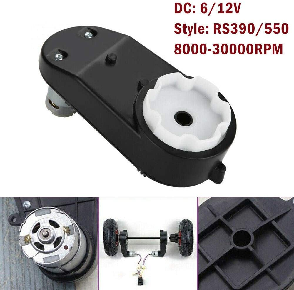 Universal Gearbox Electric Motor for Kids Toy Electric Motor Gear Box Kids Carriage Accessories RS390 6V 18000 Turn