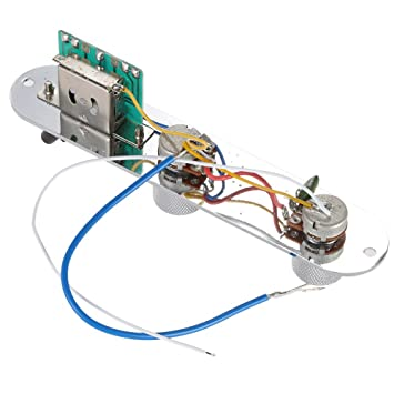 Andoer 3 Vías Interruptor de Conexión de Cable Cargado Placa de Control del Circuito Boardfor TL Set Completo de Serie para Guitarra Eléctrica: Amazon.es: ...