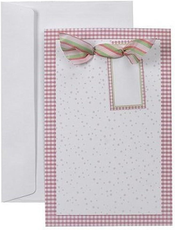 Gartner Pink Polka Dot Baby Shower Invitations Or Announcements Kit
