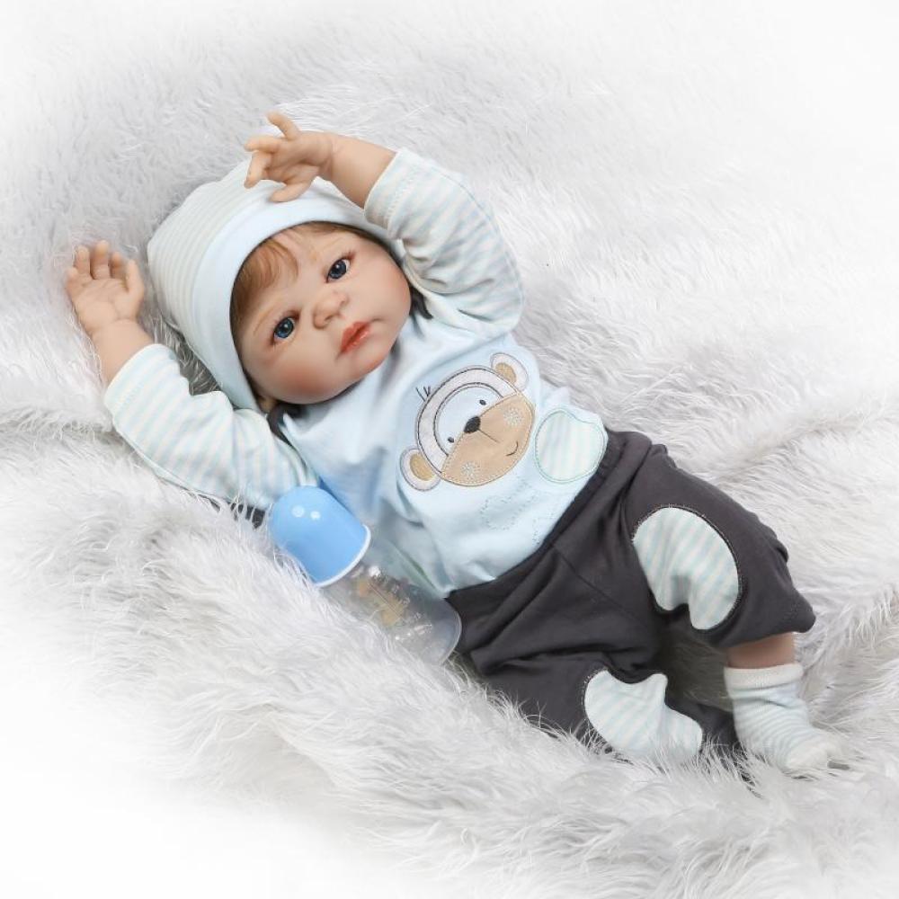 """QXmEi 22 """" 57 cm Lifelike Realistic Looking Rebornベビーガールボーイ人形ソフトボディシリコン新生児Dolls   B07DN53DNZ"""