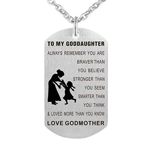 Amazon to my goddaughter always remember you are braver than amazon to my goddaughter always remember you are braver than you believe birthday gift jewelry keychain pendant necklace from godmother jewelry aloadofball Gallery