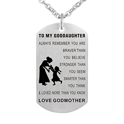 Amazon Kisseason To My Goddaughter Always Remember You Are Braver Than Believe Birthday Gift Jewelry Keychain