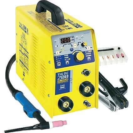 GYS TIG 200 DC HF FV máquina de soldadura por arco AC/DC 8,75 kVA ...