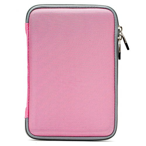 """B004BON8O6 Pink Durable Nylon Cover Portfolio Case with Mesh Pocket for Amazon Kindle Wireless Reading Device, Wi-Fi, 6"""" Display 3rd Generation + Includes Determination Ebigvalue Hand Strap Key Chain 61H5yf5borL"""
