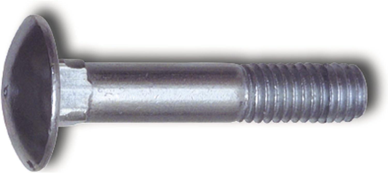 25 St/ück mm SECOTEC V105A048S547 Torbandschraube DIN603 M8X160 verzinkt-blau KP-25