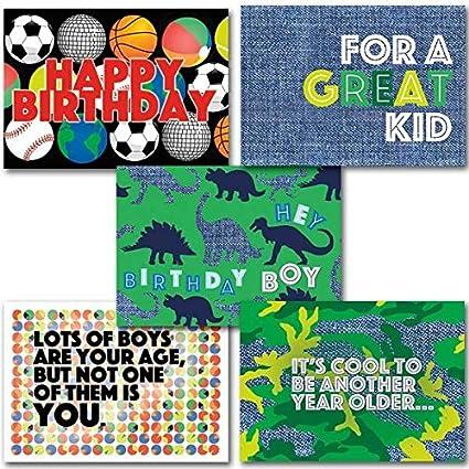 Amazon Happy Birthday For Boys Set Of 5 Deluxe Religious