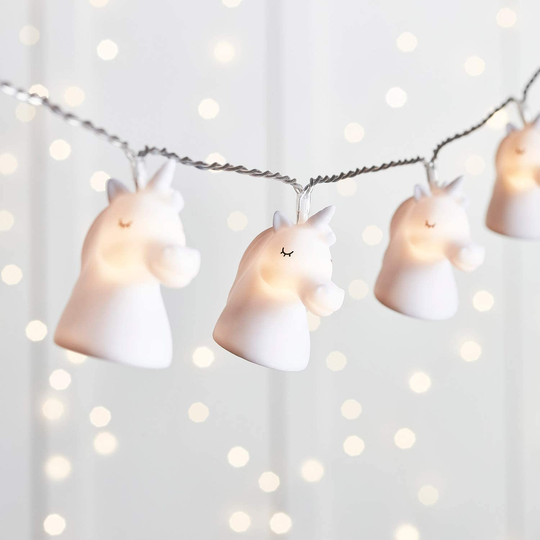 Catena di Luci Decorative a Pile con 12 Stelle e Luci LED Bianco Caldo per Bambini Lights4fun