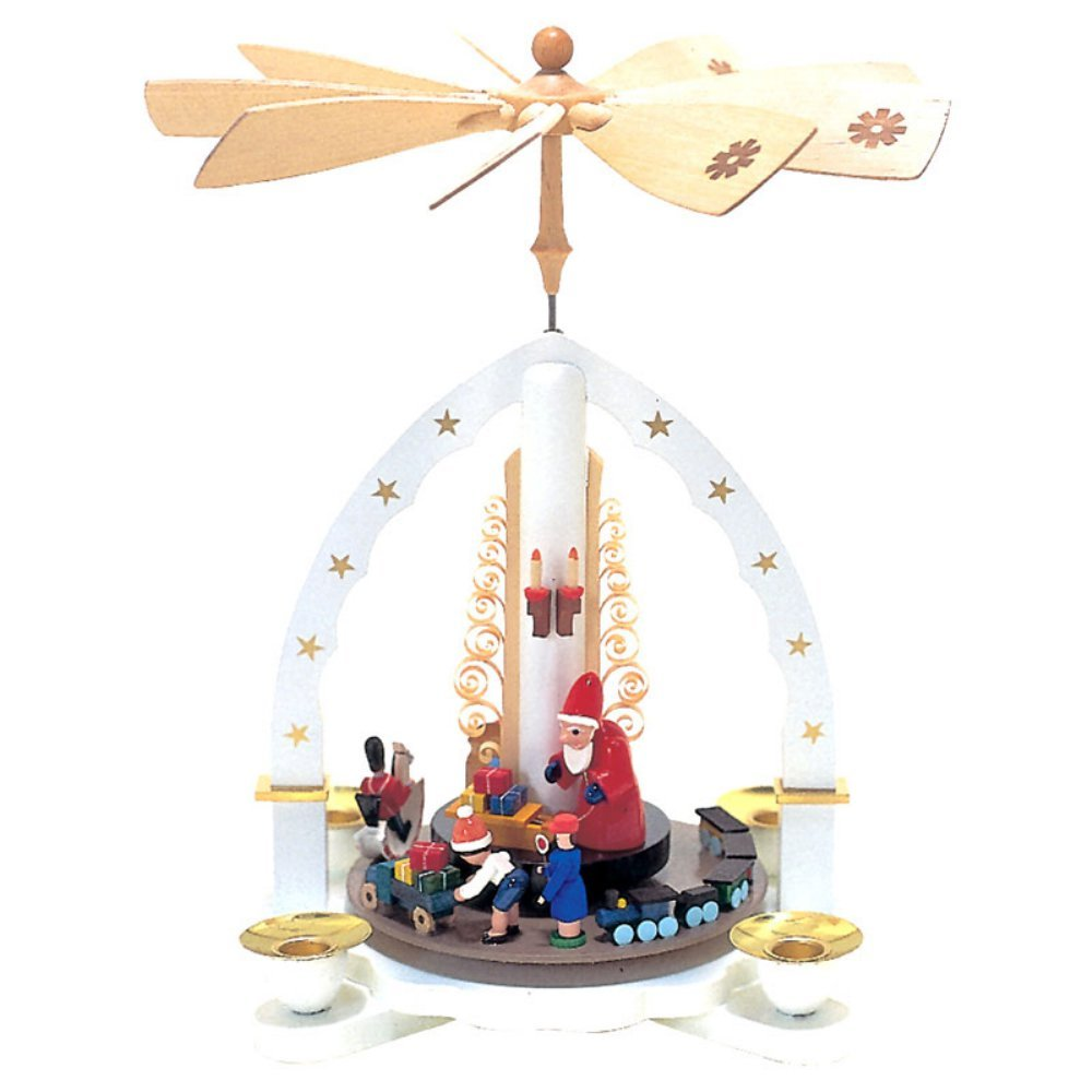 Richard Glaesser Arch with Santa and Children Pyramid