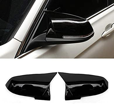 M2 JMY Replacement Side Mirror Cover Caps fits BMW 3 Series F30 F34 1 Series F20 2 Series F22 4 Series F32 F33 F36 F87 X1 Series E84 2013-2015 Carbon Fiber