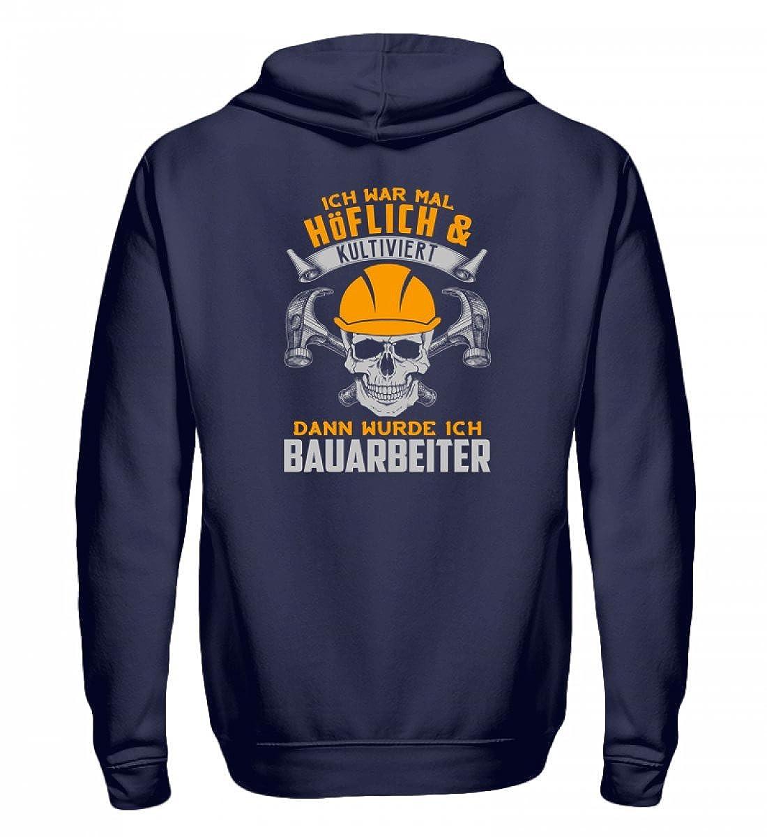 Bauarbeiter Shirt · Geschenk Bagger Fans · Baustelle · Spruch  Ich war mal höflich - Zip-Hoodie