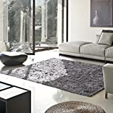 Superior Elegant Shag Rug, Plush and Cozy Hand Tufted Area Rugs, Chic and Contemporary Eyelash Shag Rug with Cotton Backing - 5' x 8' Rug, Grey