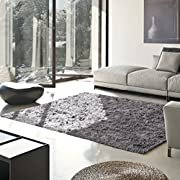Superior Hand Tufted Thick, Plush, Cozy Quality Shag Textured Area Rugs, Grey - 5' x 8'