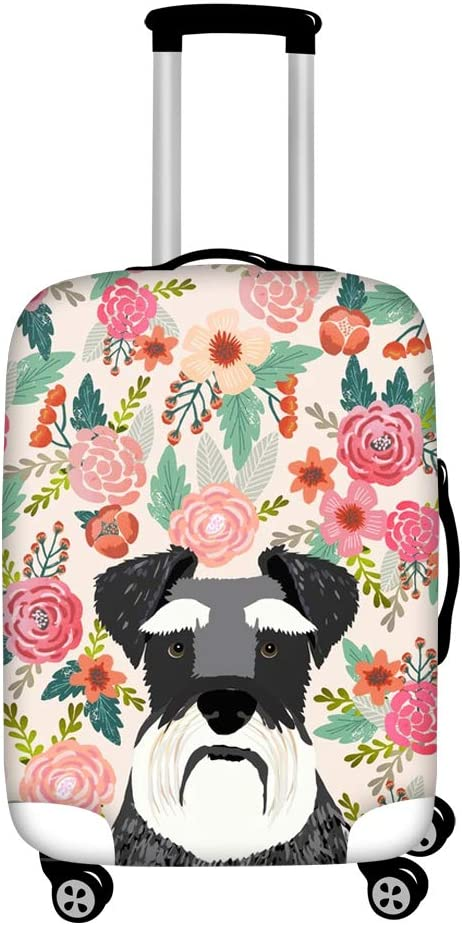 HUGS IDEA 22//24//26 Inch Spandex Stretch Luggage Cover Protector Puppy Pattern Suitcase Covers