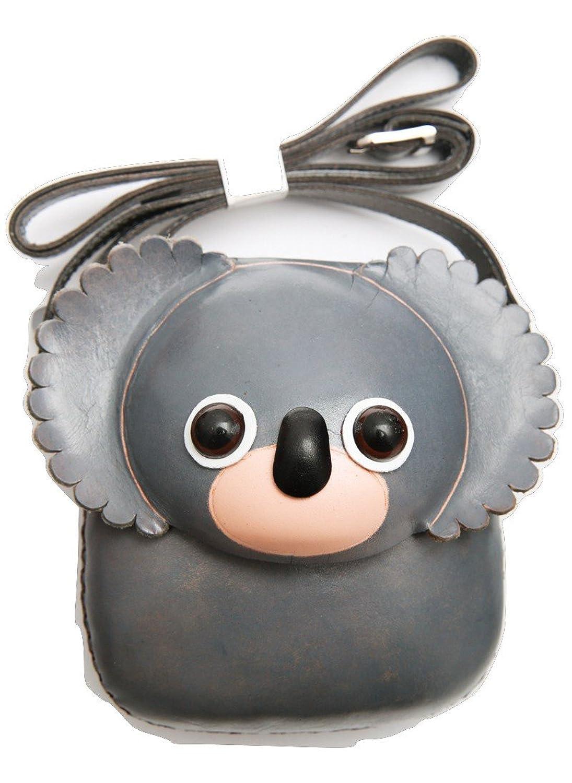 PurseWorld Women's Handmade Leather Koala Shoulder Bag