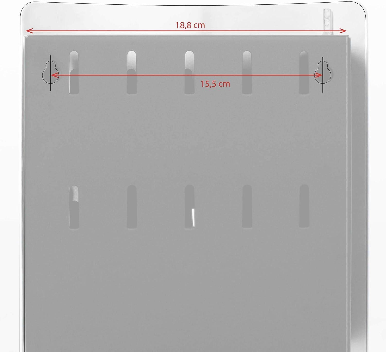 praktischer Magnetverschluss 24x21,5cm Motiv Seichtes Wasser 10 Haken f/ür Schl/üssel banjado Design Schl/üsselkasten aus Edelstahl